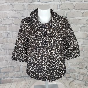 Forever 21 Leopard Jacket Cropped Small